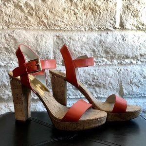 MICHAEL Michael Kors Cork Orange Ankle Strap Heel